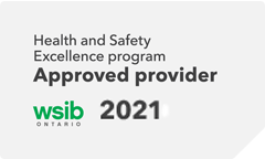 WSIB 2021 Health and Safety Excellence program Approved provider